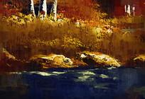 抽象艺术风景画