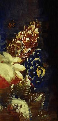 艺术抽象花卉画