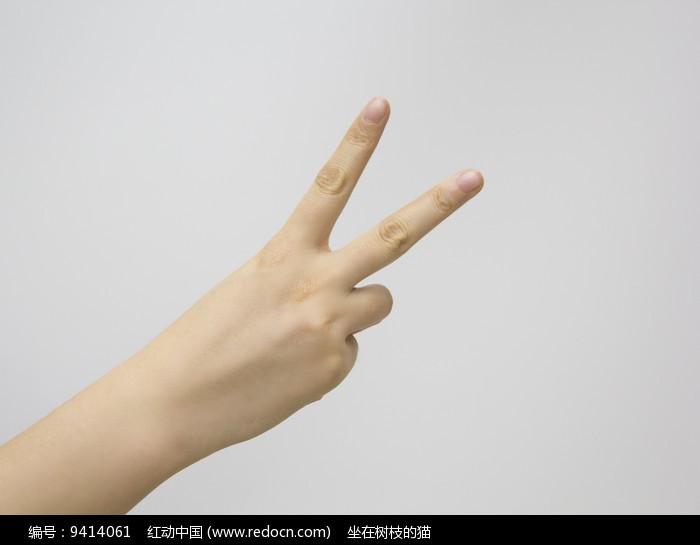 胜利大v手势图片