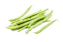 白背景上的四季豆
