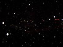 俯瞰与夜空