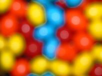 模糊的彩色糖果