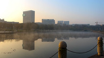 宁波鄞州院士公园清晨