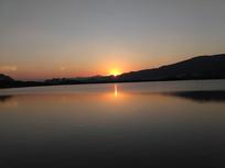 肇庆星湖夕阳景色 夕阳