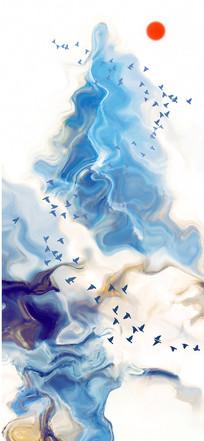 写意山水水墨画