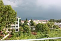 暴雨来临前的天空