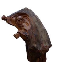 根雕菩提达摩像