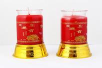 红色佛教专供烛台