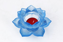 莲花水晶烛台