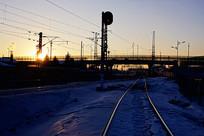 大兴安岭小镇的车站信号灯