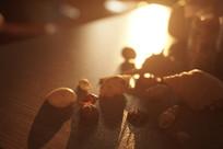 贝壳黄昏静物摄影