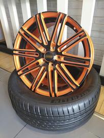 橙色轮胎轮毂