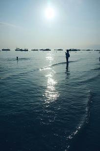 大海海水背景图素材