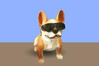 带墨镜卡通狗