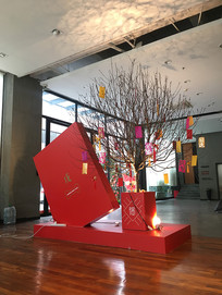 集团公司大厅新年装饰树