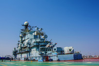 泰达航母甲板与舰上舰岛全图