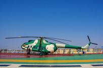 泰达航母舰上的直升飞机