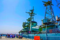 重庆号巡洋舰舰身前部