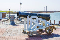 航母公园声纳广场展品炮筒