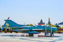 泰达航母公园广场的战斗机展品