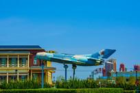 泰达航母公园广场战斗机展览