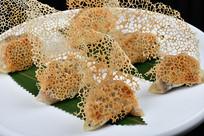 高清白盘锅贴饺子