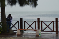 海口假日海滩观景台
