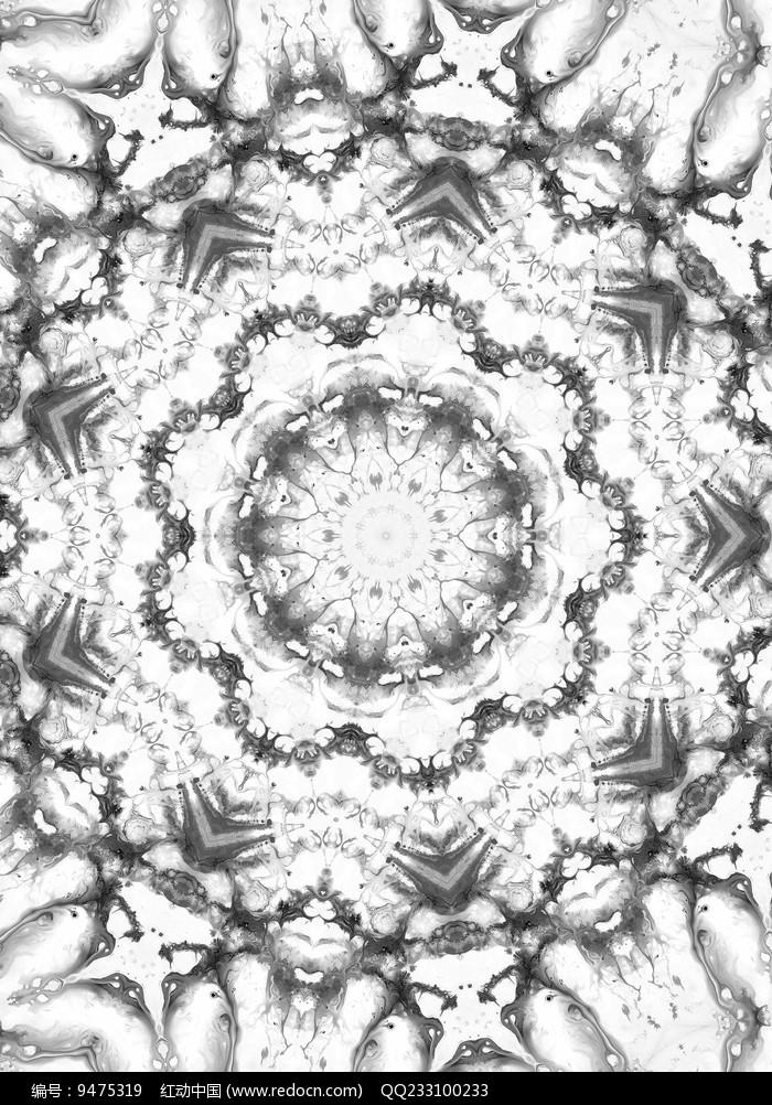 放射四方连续纹图片