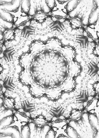 放射四方连续纹