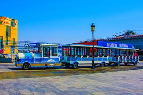 航母公园广场旅游观光小火车