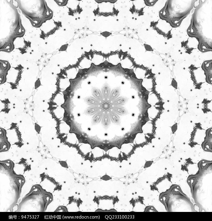 黑白放射印花 图片