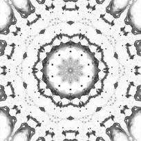 黑白放射印花