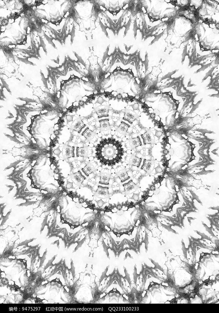 黑白印花图案图片
