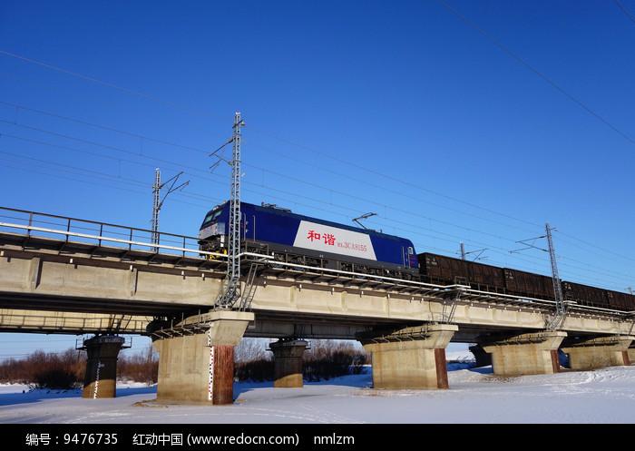 和谐号货运列车图片