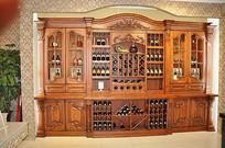 欧式实木酒柜