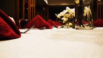 高级餐厅宴会布置