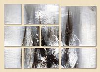 黑白艺术组合壁画