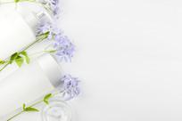鲜花和护肤品图片