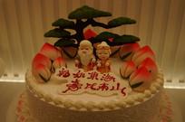 福如东海寿比南山蛋糕
