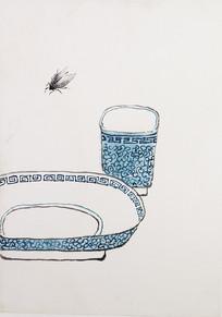 齐白石水杯盘子图