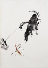 齐白石螳螂图
