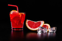 红橙子鸡尾酒图片