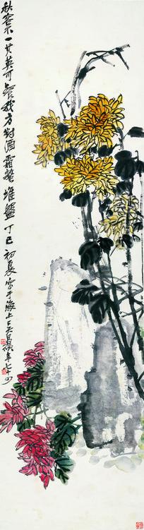 吴昌硕 花卉四条屏之二
