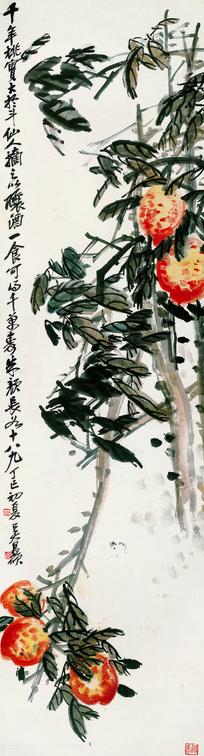 吴昌硕 花卉四条屏之四