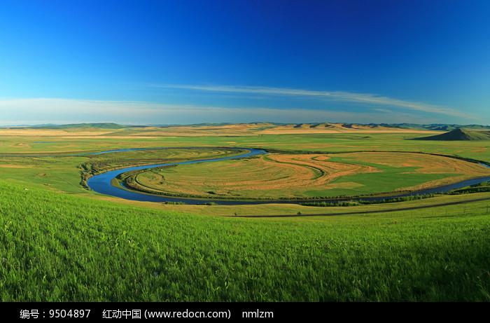 额尔古纳河绿色牧场  图片