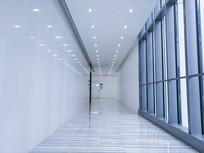 蓝色办公空间
