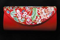 苏绣花卉纹红色手包