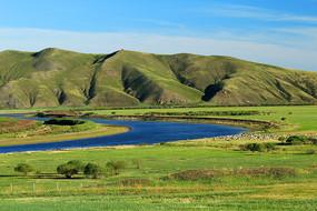 额尔古纳河流域牧场草场景观