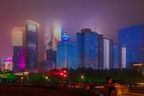 城市的夜景
