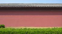 古代庙宇的围墙